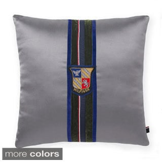 Tommy Hilfiger Velvet Stripe Decorative 18-inch Throw Pillow