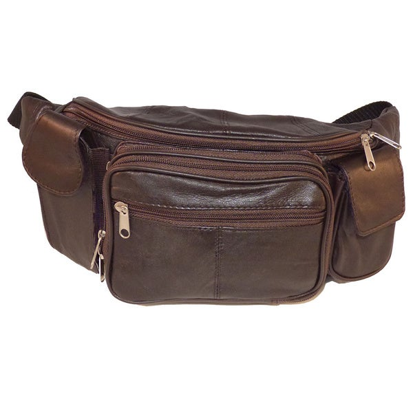 Brown Leather Extra Large Fanny Pack