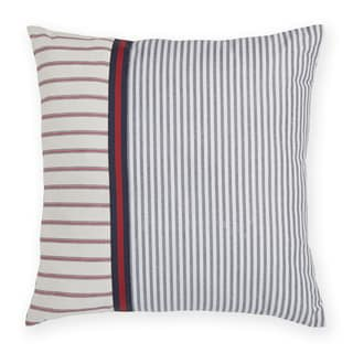 Tommy Hilfiger Vintage Plaid Stripe Decorative 18-inch Throw Pillow