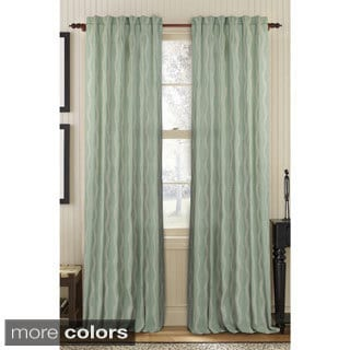 Ashley Embroidered Linen Rod Pocket Curtain Panel