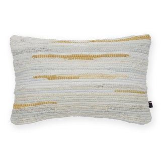 Tommy Hilfiger Rag Rug Cream Decorative Throw Pillow