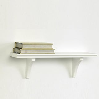 Kathy Ireland White 16-inch Mission Bracket Shelf