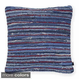 Tommy Hilfiger Rag Rug Decorative 18-inch Throw Pillow
