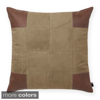 Tommy Hilfiger Pieced Leather Decorative 20-inch Throw Pillow
