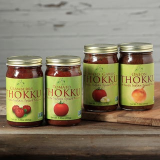 JaynRoss Savory Medium Spice Assorted Thokku Condiment Bundle (Pack of 4)