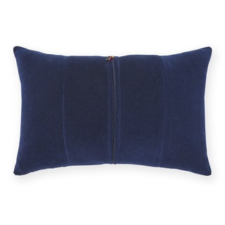 Tommy Hilfiger Pieced Navy Corduroy Decorative 18-inch Throw Pillow