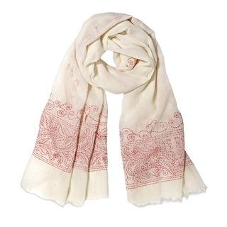 Mela Artisans Hand-woven Wool Honeysuckle Scarf (India)