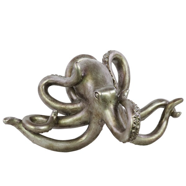 Brushed Silver Resin Octopus