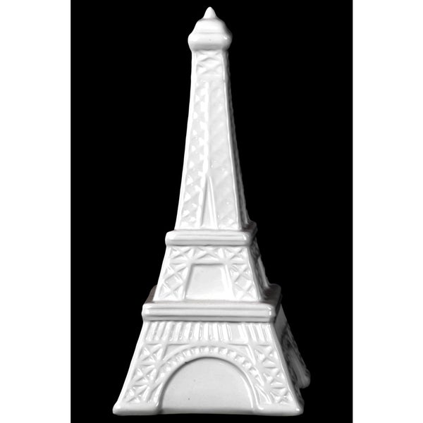 Gloss White Ceramic Eiffel Tower