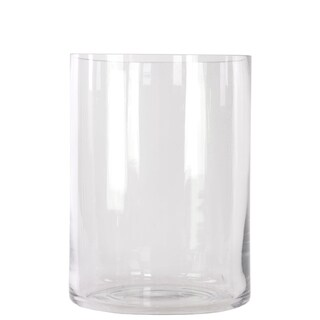 Glass Finish Glass Cylindrical Vase Clear