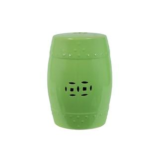 Gloss Lime Green Ceramic Garden Stool