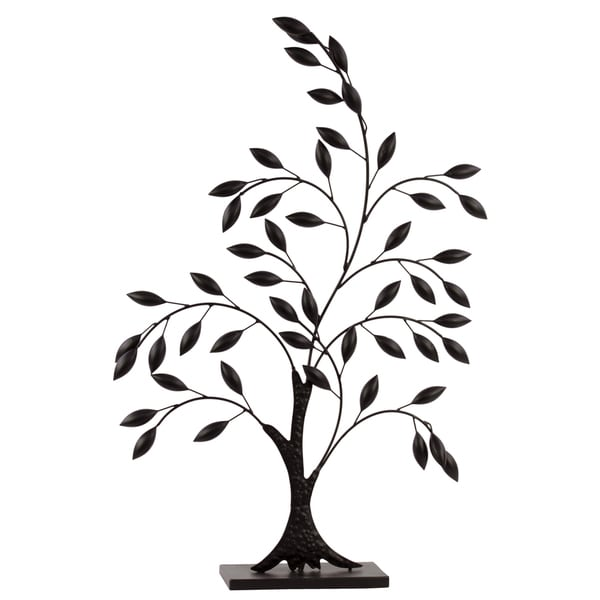 Black Metal Olive Tree Decor LG