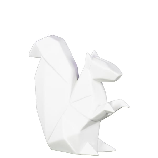 Matte White Squirrel Ceramic