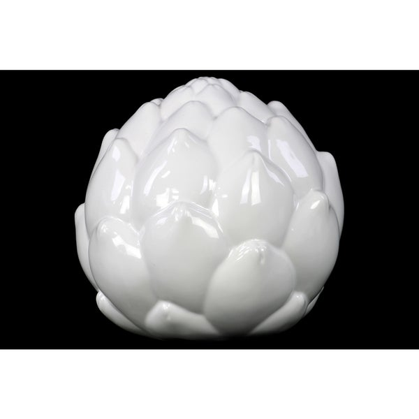 Gloss White Ceramic Artichoke LG
