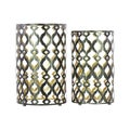 Gold Interior Black Metal Table (Set of 2)