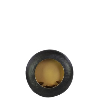 Matte Black Metal Large Candleholder with 3 Holders