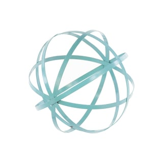Cyan Metal Orb Dyson Sphere Design Decor
