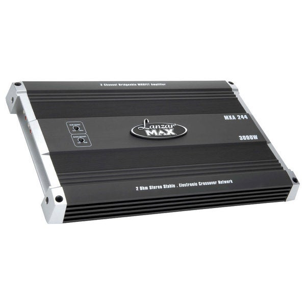 Lanzar MXA244 3000-watt 2 Channel Bridgeable MOSFET Amplifier (Refurbished)