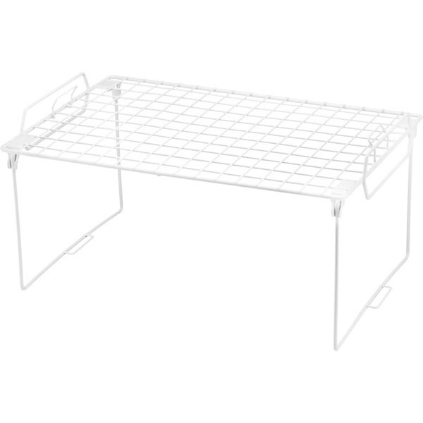 White Metal Stacking Shelf