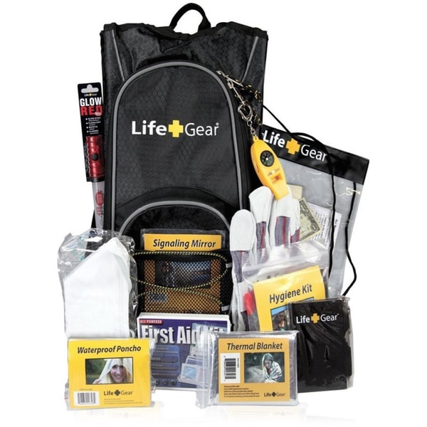 Life Gear Emergency Survival Kit Backpack