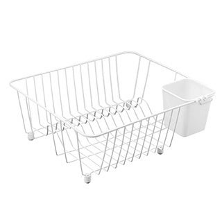 White Compact Dish Drainer