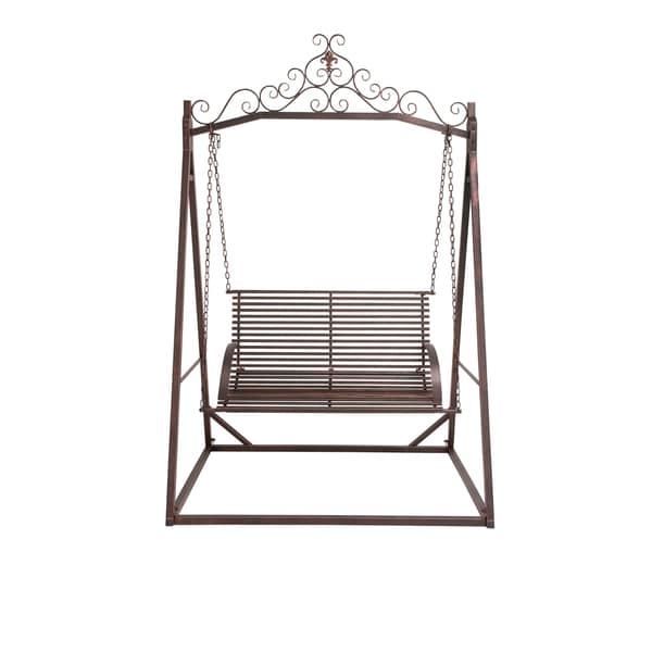 Brown Metal Garden Swing