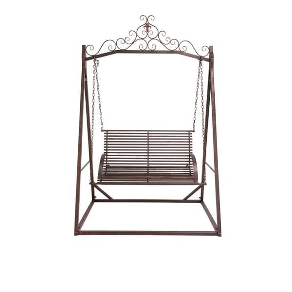 Brown Metal Garden Swing