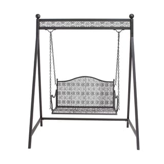 Black Iron Patio Swing