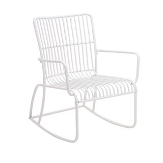 Metal Outdoor White Rocking Chair