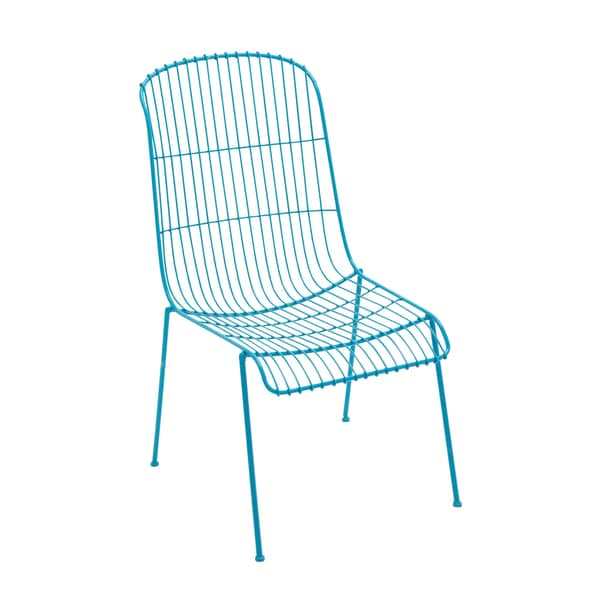 iron blue patio chair 16863305 overstock shopping