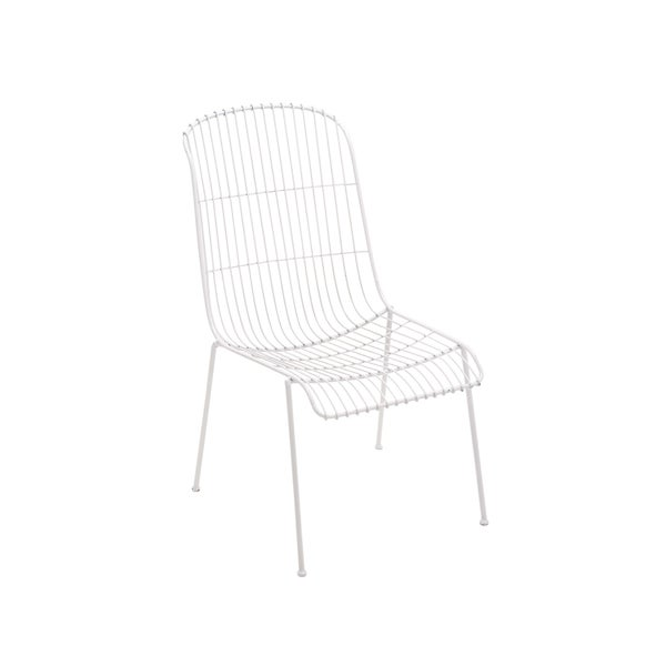 Iron White Patio Chair
