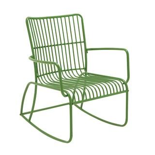 Metal Green Outside Rocking Chair