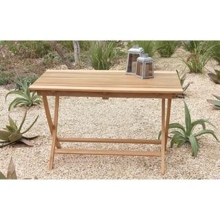 Large Teak Wood Folding Table