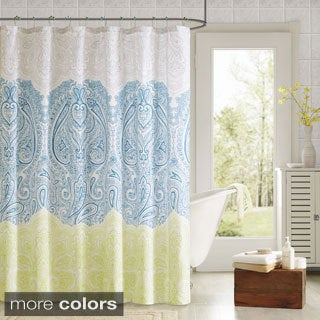 90� by Design Lab Selina Shower Curtain and Hook Set