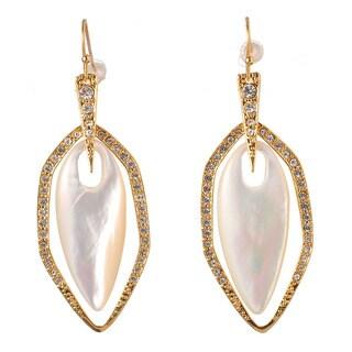 De Buman 18k Yellow Goldplated Mother-of-Pearl Earrings
