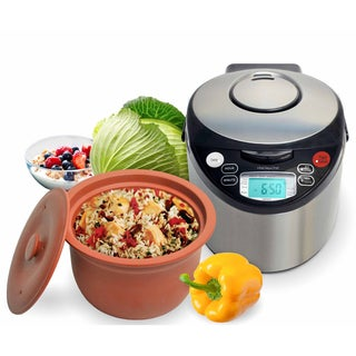 VitaClay VM7900-8 Smart Organic Multi-Cooker/Rice Cooker - Brushed Stainless Steel