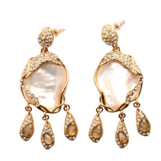 De Buman 18k Yellow Goldplated Mother-of-Pearl Earrings