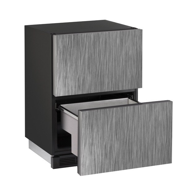 U-Line 1000 Series 1224 - 24 Inch Integrated Refrigerator Drawers