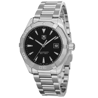 Tag Heuer Men's WAY1110.BA0910 '300 Aquaracer' Black Dial Stainless Steel Swiss Quartz Watch