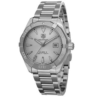 Tag Heuer Men's WAY2111.BA0910 '300 Aquaracer' Silver Dial Stainless Steel Automatic Watch