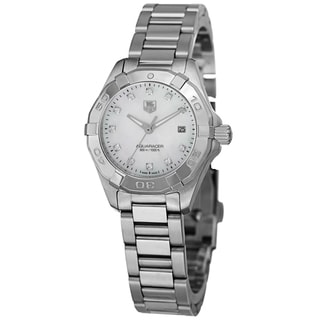 Tag Heuer Women's WAY1413.BA0920 '300 Aquaracer' Mother of Pearl Diamond Dial Bracelet Watch