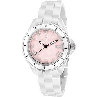 Christian Van Sant Women's CV9413 Palace Round White Bracelet Watch