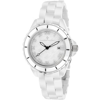 Christian Van Sant Women's CV9410 Palace Round White Bracelet Watch