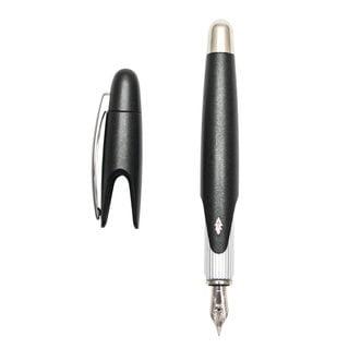 Stipula Speed Matte Black Piston Fountain Pen, Medium Nib
