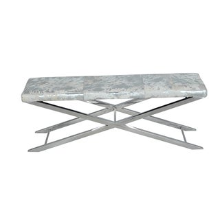 Grey Metallic Hide Artisan Cross Bench