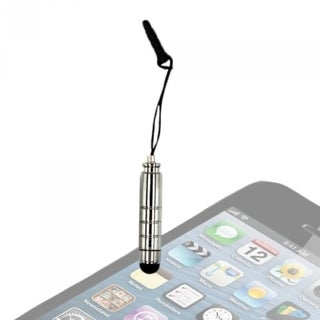 INSTEN Silver Universal Smooth and Sleek Touch Screen Pen Stylus With Strap Plug For Phone Tablet
