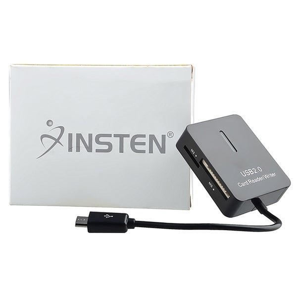 Insten OTG Micro USB 2.0 Cable with 5-in-1 Card Reader Camera Connection Kit For Samsung Galaxy S6/ Edge