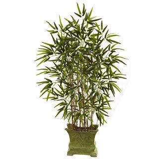 Nearly Natural 45 Inch Bamboo Tree w/Decorative Planter