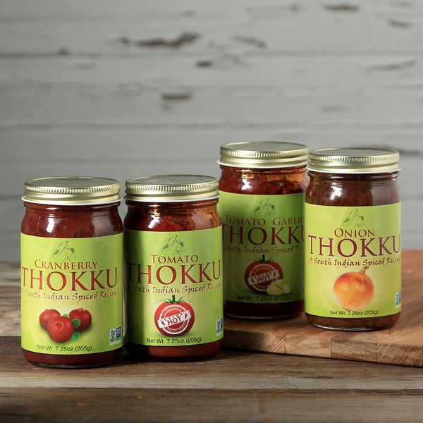 JaynRoss Assorted Savory Extra Hot Thokku Sauces (Set of 4)