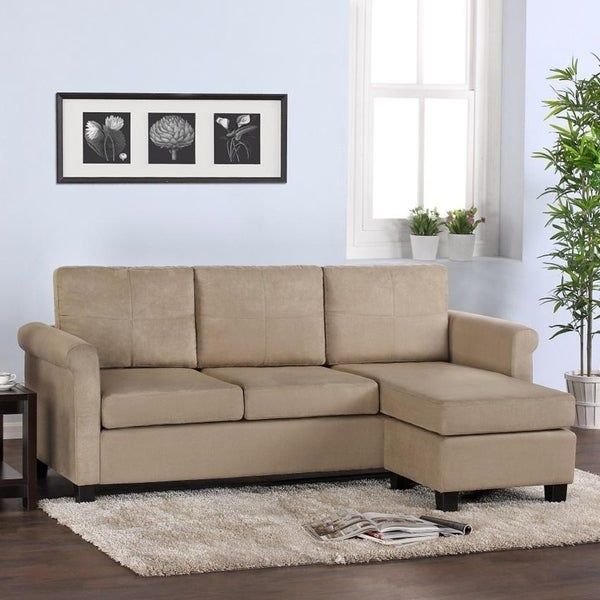 Dorel living small spaces sectional sofa 16866329 for Living spaces sofas